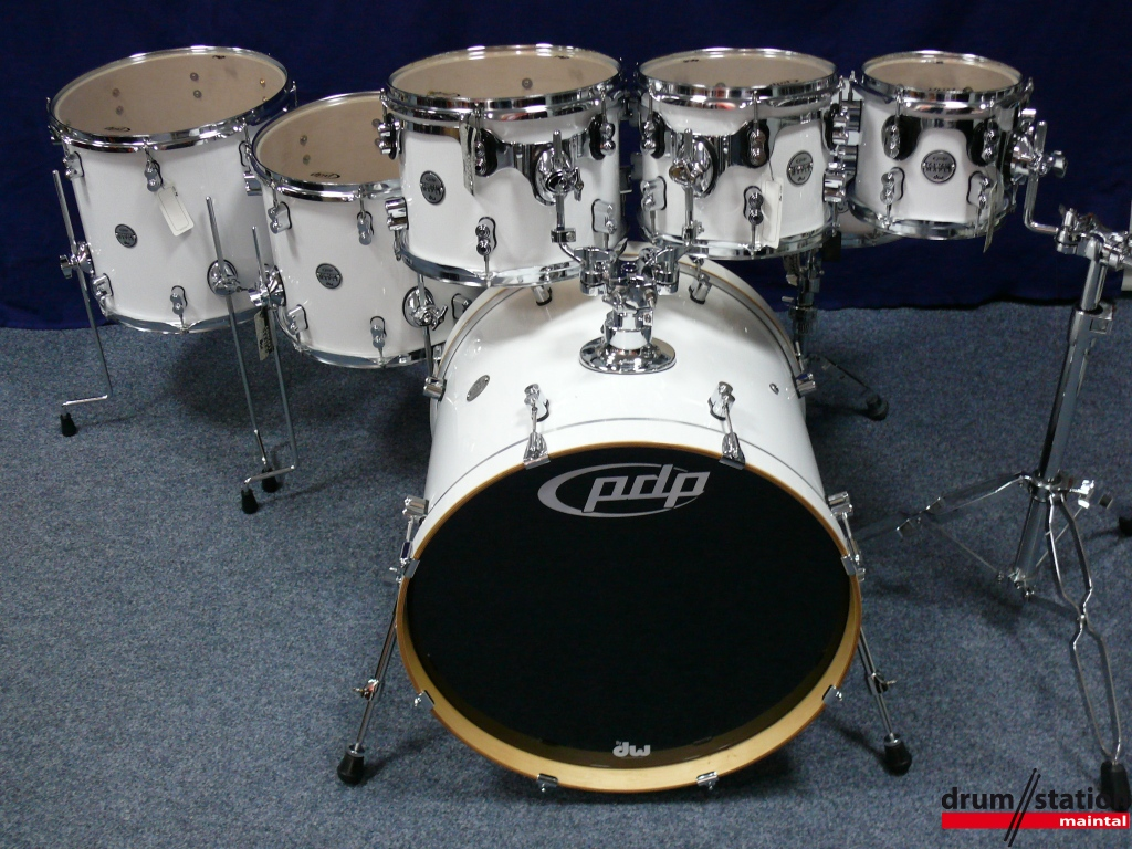 Pdp Concept Maple Shellset Pearlescent White Drum