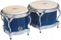 LP Matador® Wood Bongos, Royal Blue/Chrome M201-BLWC