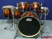 DW Collector's Series Exotic Shellset ''Rich Red Fade over Ivory Ebony'' (3302)