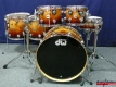 DW Collector's Series Exotic Shellset ''Natural to Burnt Toast Fade over Mapa Burl'' (3301)